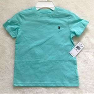 NWT Ralph Lauren toddler boys mint green tee